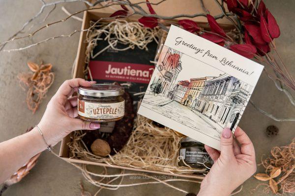 Tradicinių, lietuviškų produktų maisto rinkinys