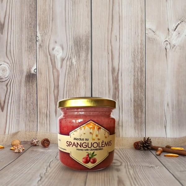 Medus su spanguolėmis dovanų rinkiniams