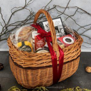 Valgomos verslo dovanos, dovanų krepšiai ir pintinės