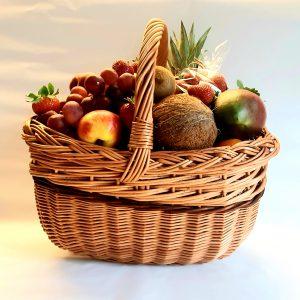 Dovanų krepšys su vaisiais